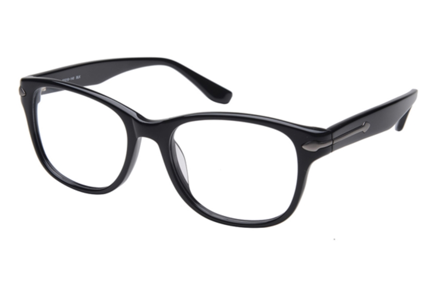 Amadeus A982 Eyeglasses in BLK Black w/Matte Brown