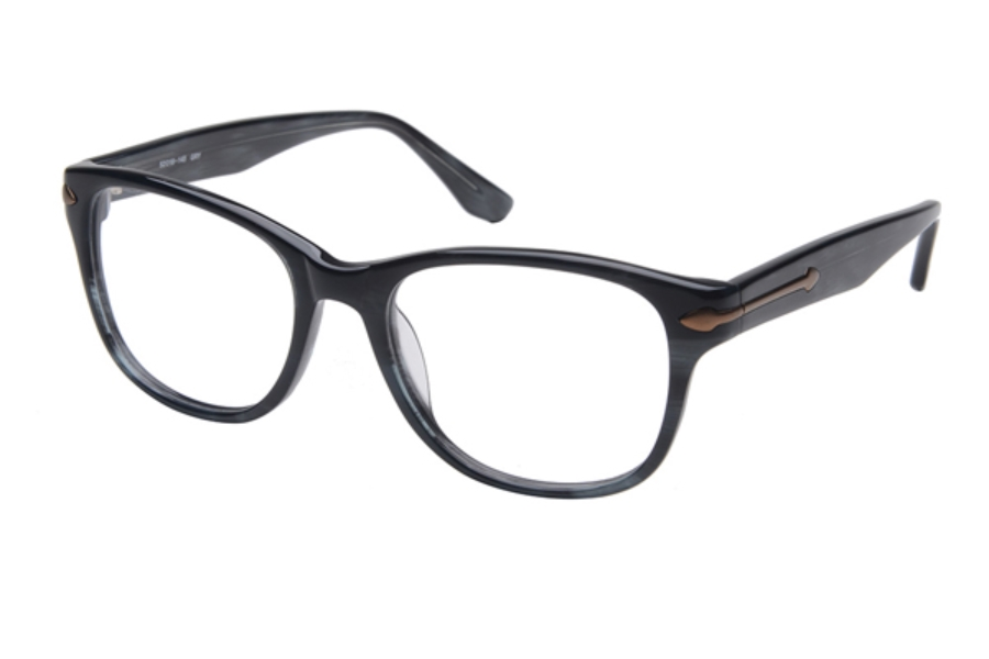 Amadeus A982 Eyeglasses in GRY Grey w/Matte Brown