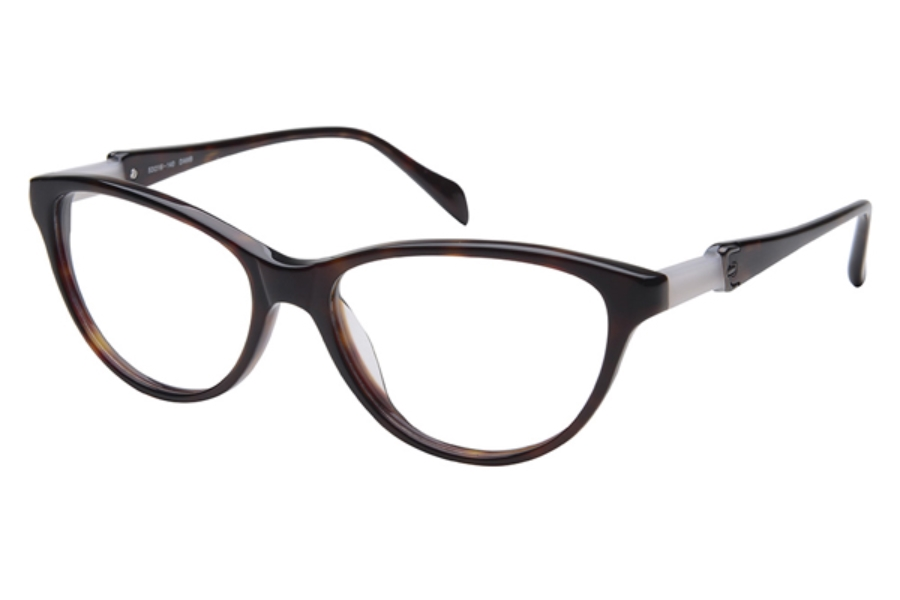 Amadeus A986 Eyeglasses in Black Medley