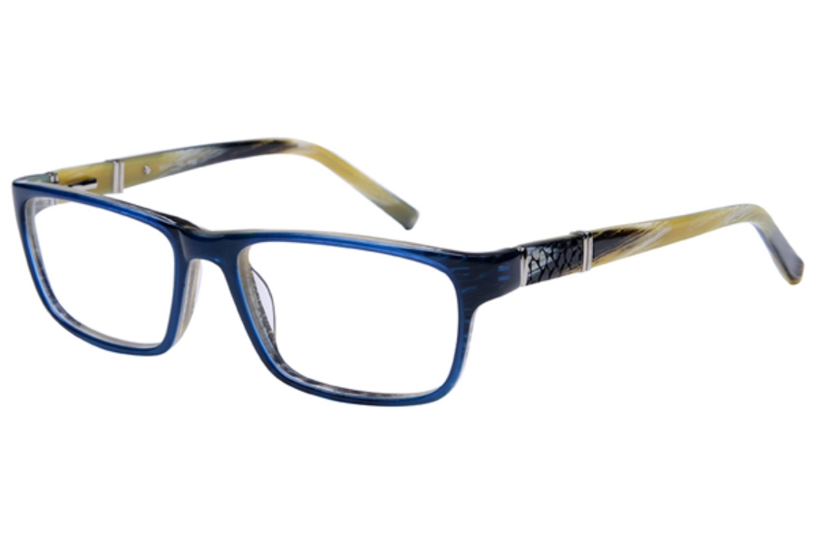 Amadeus A991 Eyeglasses in BBS Blue Brown Stripe