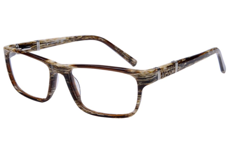 Amadeus A991 Eyeglasses in YBS Yellow Brown Stripe