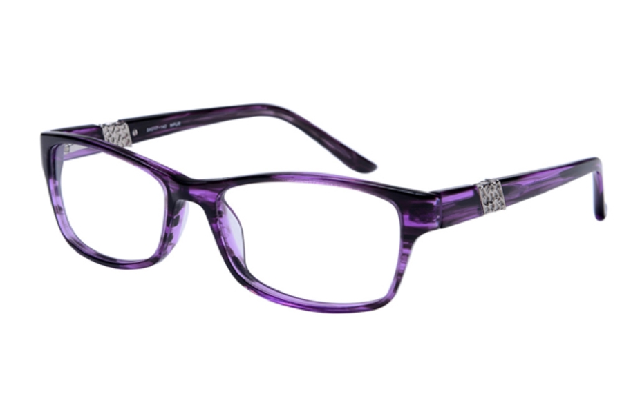 Amadeus A995 Eyeglasses in PURS Purple Stripe