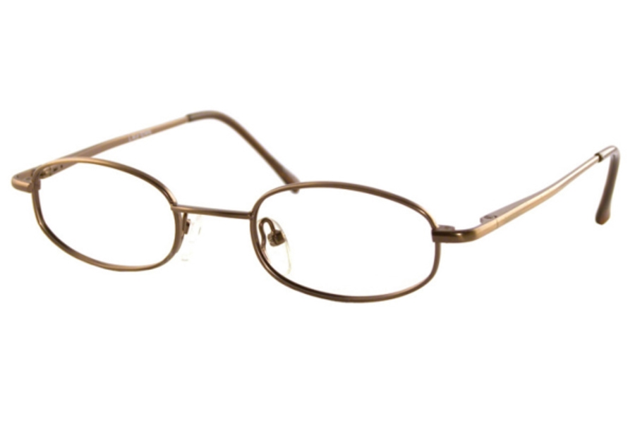 Americana Drummer Eyeglasses in Light Matte Brown