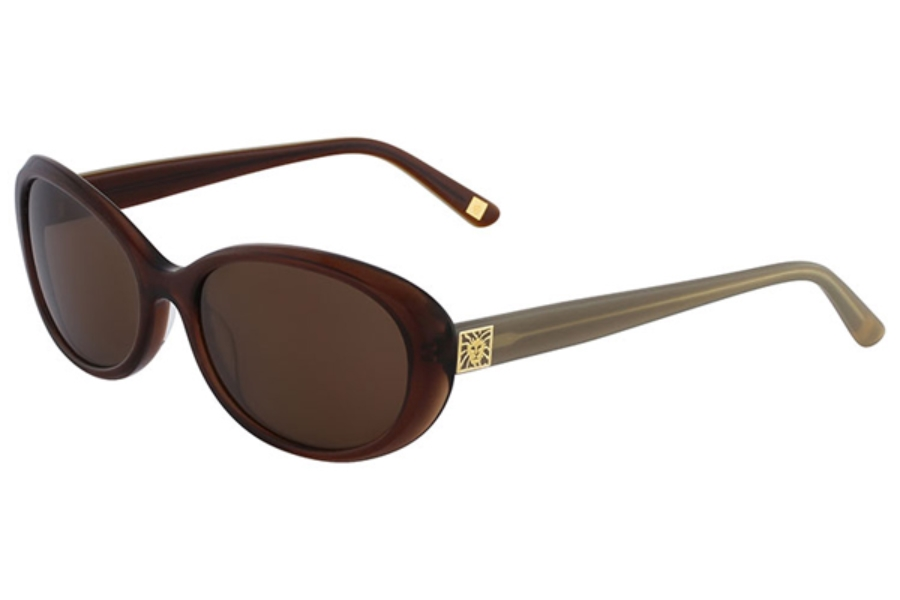 Anne Klein AK7018 Sunglasses in 208 Mocha / Gray Lenses