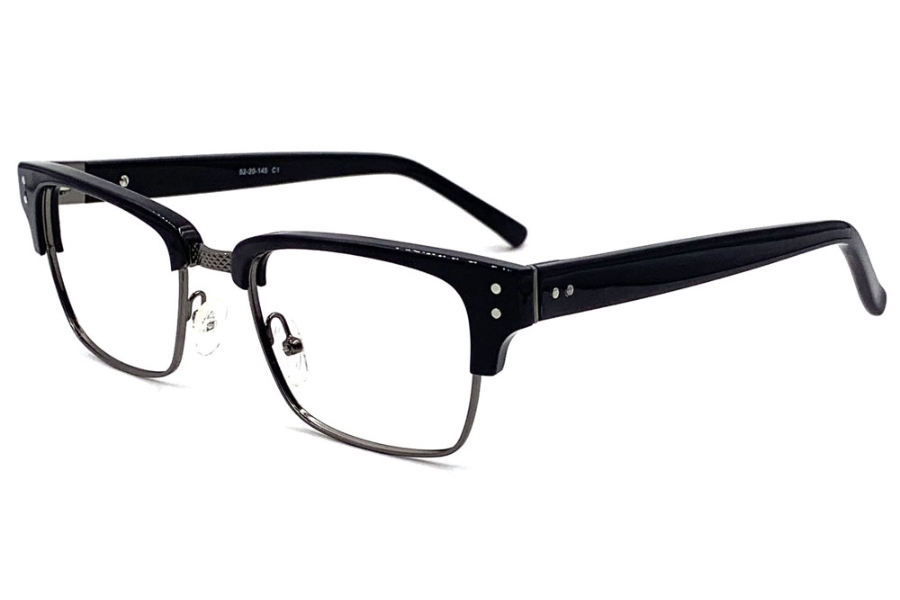Anthem Memphis Eyeglasses in BK - Black Gun