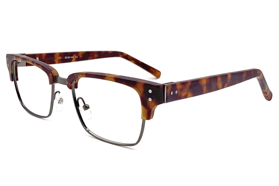 Anthem Memphis Eyeglasses in DA - Demi Amber Gun