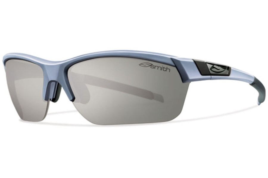 Smith Optics Approach Max Sunglasses in Matte Graphite / Polarized Platinum / Ignitor / Clear
