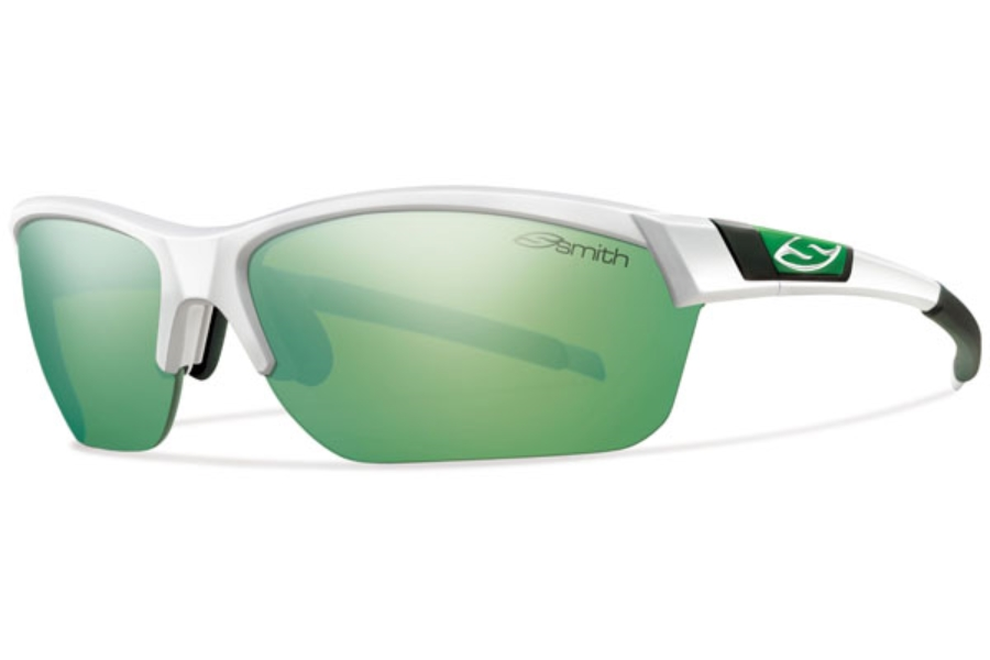 Smith Optics Approach Max Sunglasses in 0C29 White / Green Mirror / Ignitor / Clear