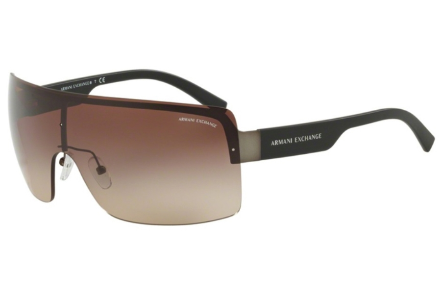 Armani Exchange AX2024S Sunglasses in 608813 Matte Gunmetal/Brown Gradient