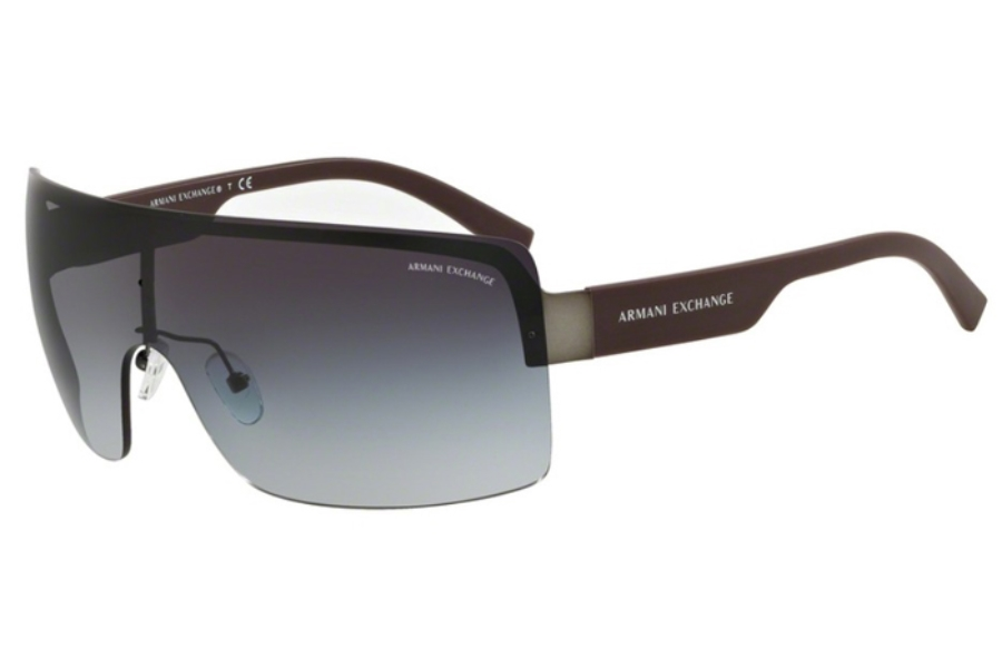 Armani Exchange AX2024S Sunglasses in 60888G Matte Gunmetal/Grey Gradient (Discontinued)