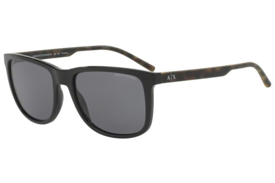 Armani Exchange AX4070SF Sunglasses in 815881 Black / Polar Grey