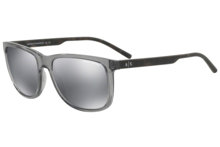Armani Exchange AX4070SF Sunglasses in 82396G Transparent Magnet Grey / Light Grey Mirror Black