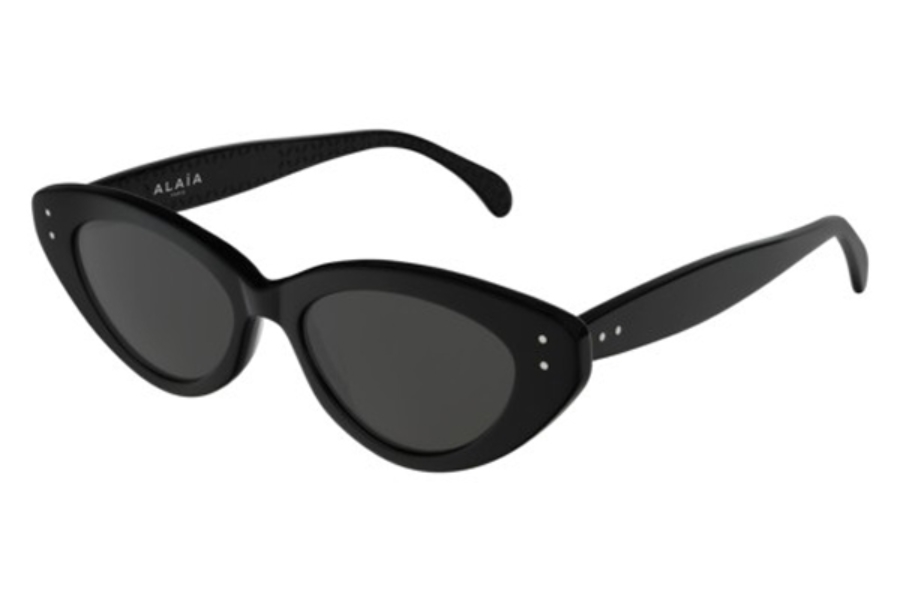Azzedine Alaia AA0019S Sunglasses in 001 Black/Shiny Grey