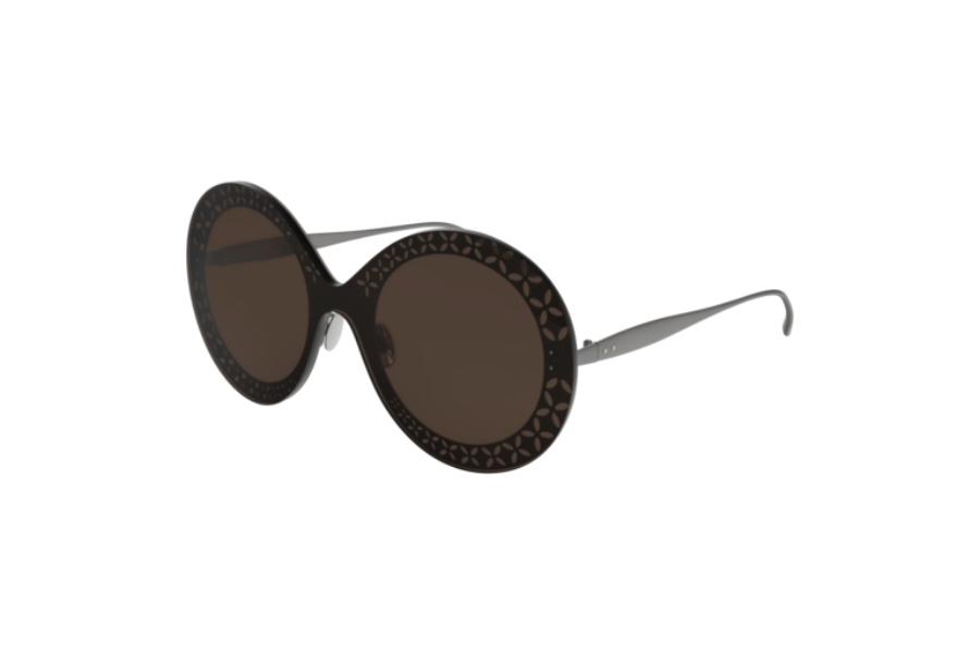 Azzedine Alaia AA0021S Sunglasses in 002 Ruthenium/Light Brown