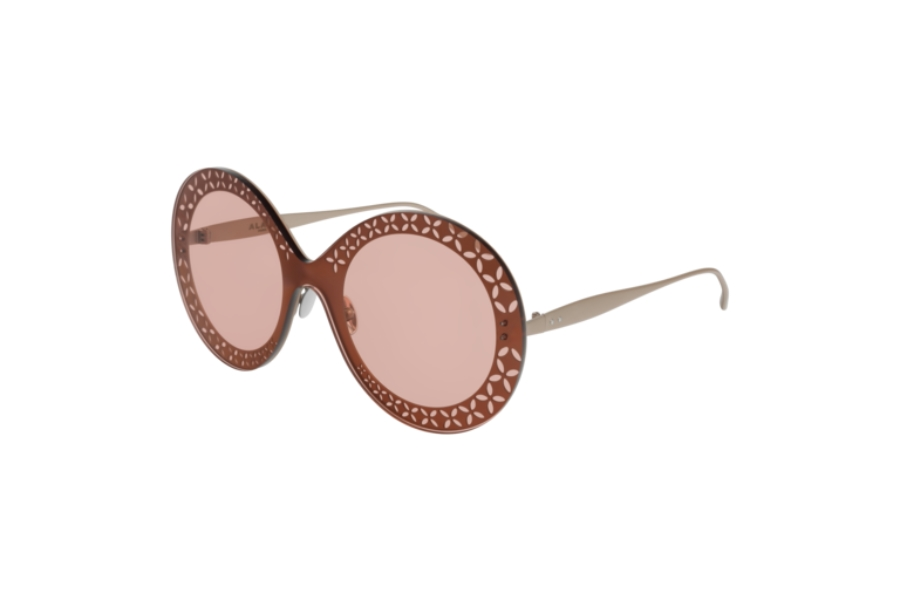Azzedine Alaia AA0021S Sunglasses in 003 Gold/Pink Brown