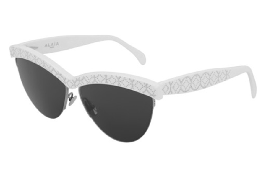 Azzedine Alaia AA0023S Sunglasses in 003 White/Shiny Grey