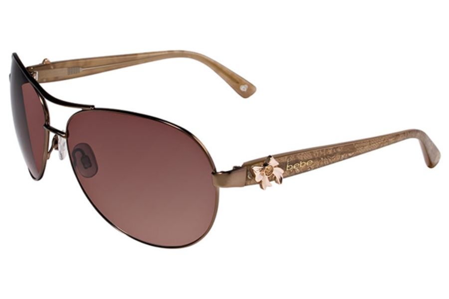 Bebe BB7018 Breathtaking Sunglasses in 002 Brown Lace / Brown Gradient Lenses