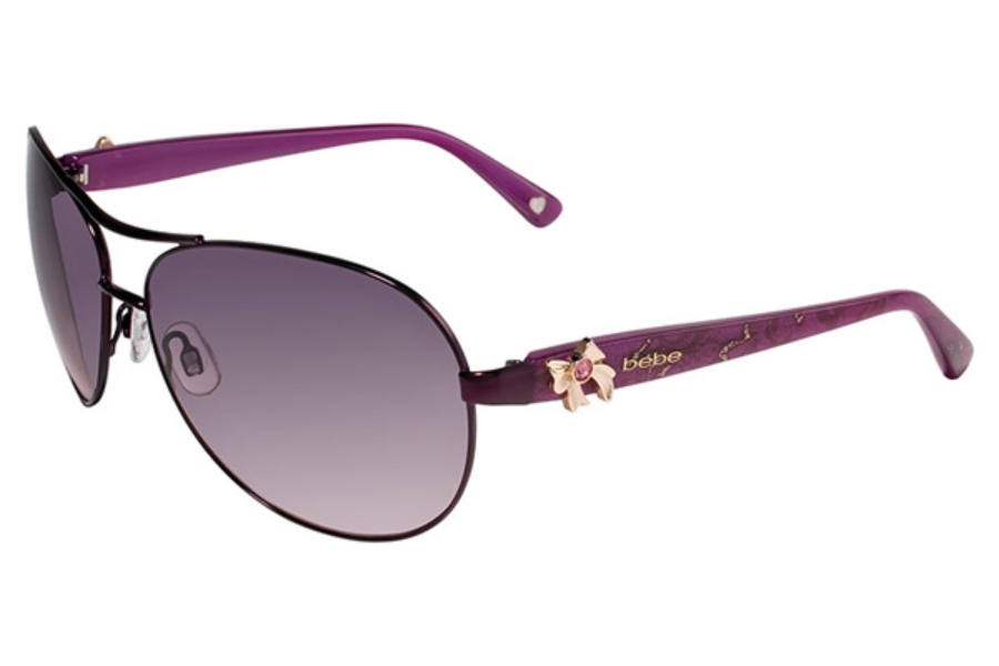 Bebe BB7018 Breathtaking Sunglasses in 003 Plum Lace / Plum Gradient Lenses