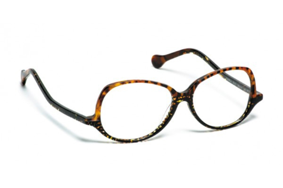 BOZ Bimba Eyeglasses in 9509 Panthere Dore/Noir Travaille