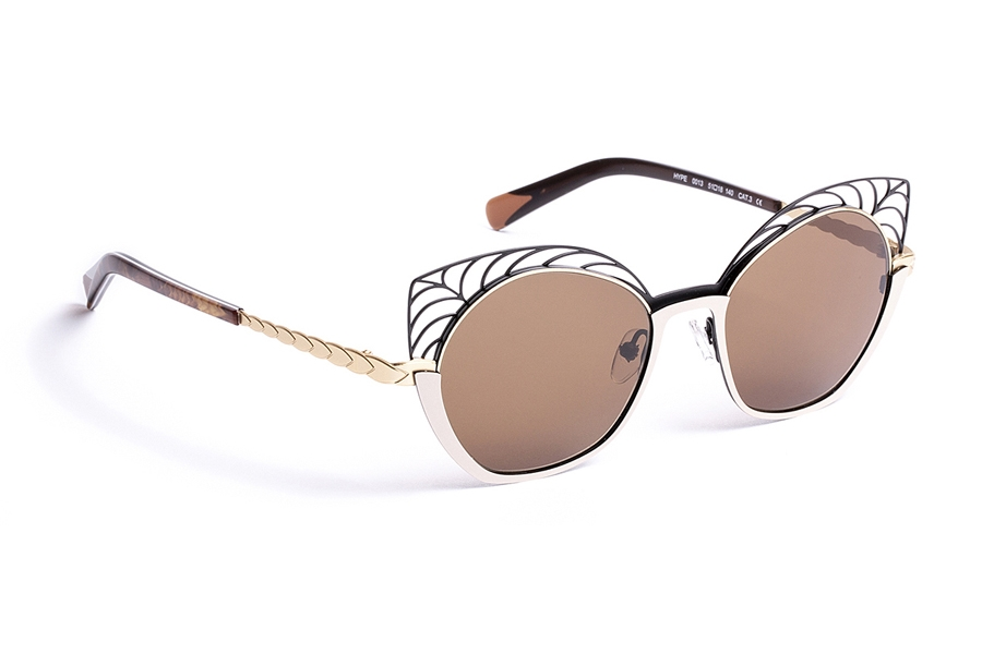 BOZ Hype Sunglasses in 0013 Sunglass Black/Gold/Ivory