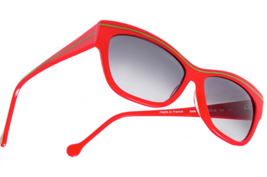 BOZ Salto Sunglasses in 3053 Poppy / Green Line