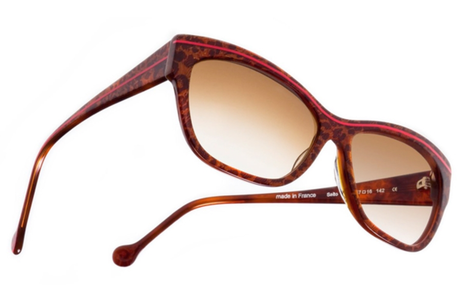 BOZ Salto Sunglasses in 9230 Panther / Red Line