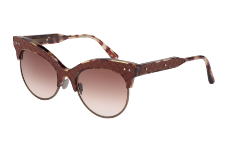 Bottega Veneta BV0014S Sunglasses in 005 Havana with Brown Multitreatment Lens