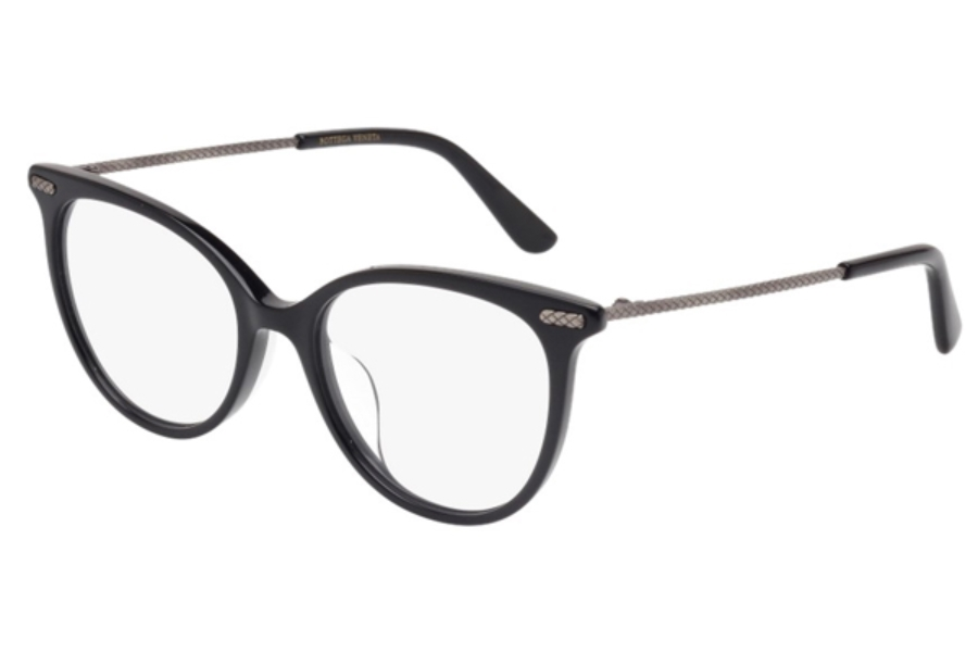 Bottega Veneta BV0031OA Eyeglasses in 002 Black Silver