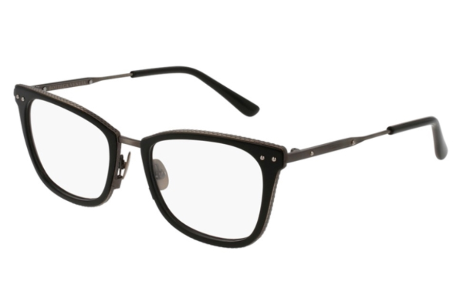 Bottega Veneta BV0065O Eyeglasses in 005 Black Silver