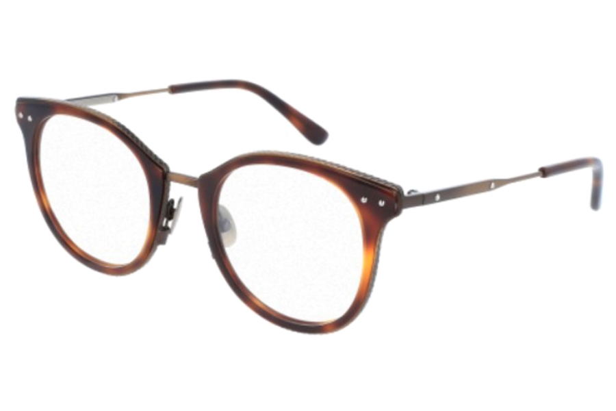 Bottega Veneta BV0066O Eyeglasses in 002 Havana Bronze