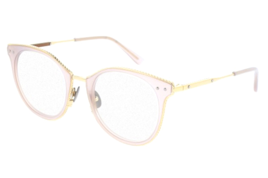 Bottega Veneta BV0066O Eyeglasses in 004 Pink Gold