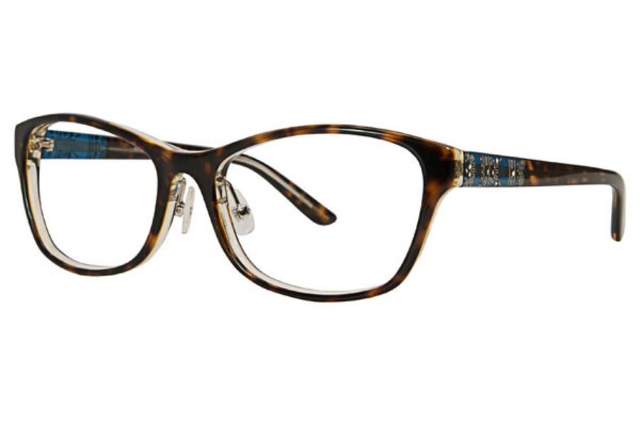 ccf8fd77d84 Badgley Mischka Juliane Eyeglasses in TOR Tortoise ...
