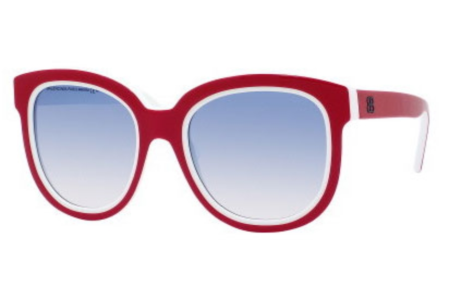 Balenciaga 0106/S Sunglasses in 090B White Red (FE azure gradient lens)