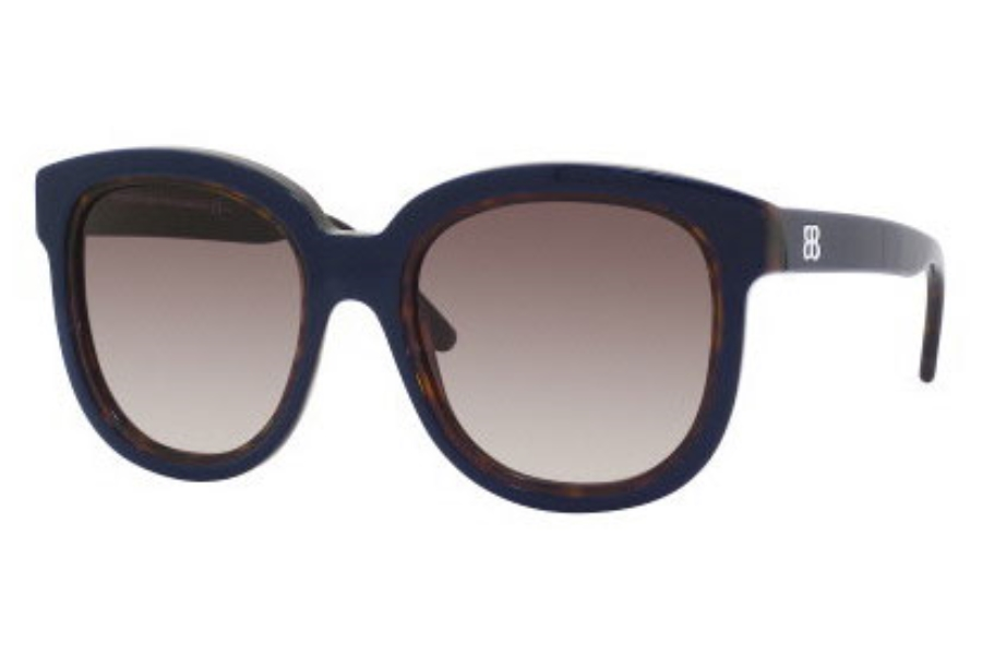 Balenciaga 0106/S Sunglasses in 090I Blue Havana (ED brown gradient lens)