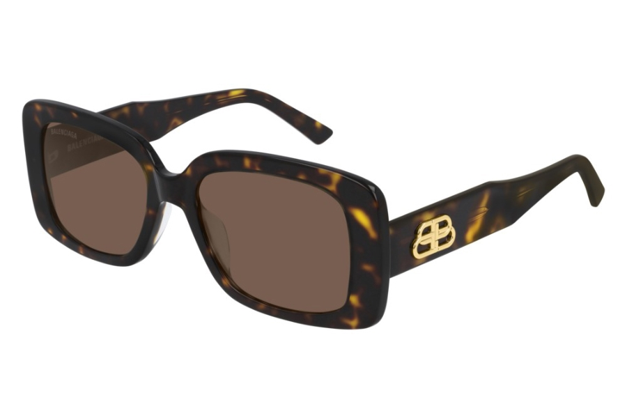 Balenciaga BB0048S Sunglasses in 002 Havana/Brown