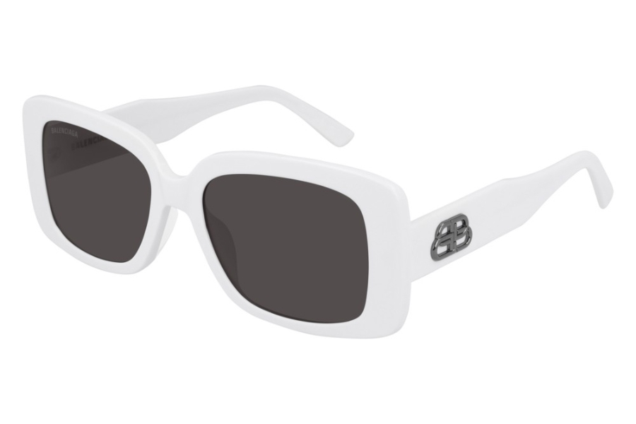 Balenciaga BB0048S Sunglasses in 003 White/Grey