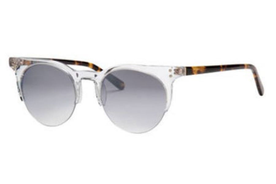 Banana Republic STEVIE/S Sunglasses in 0900 Crystal (IC gray mirror shaded silver lens)