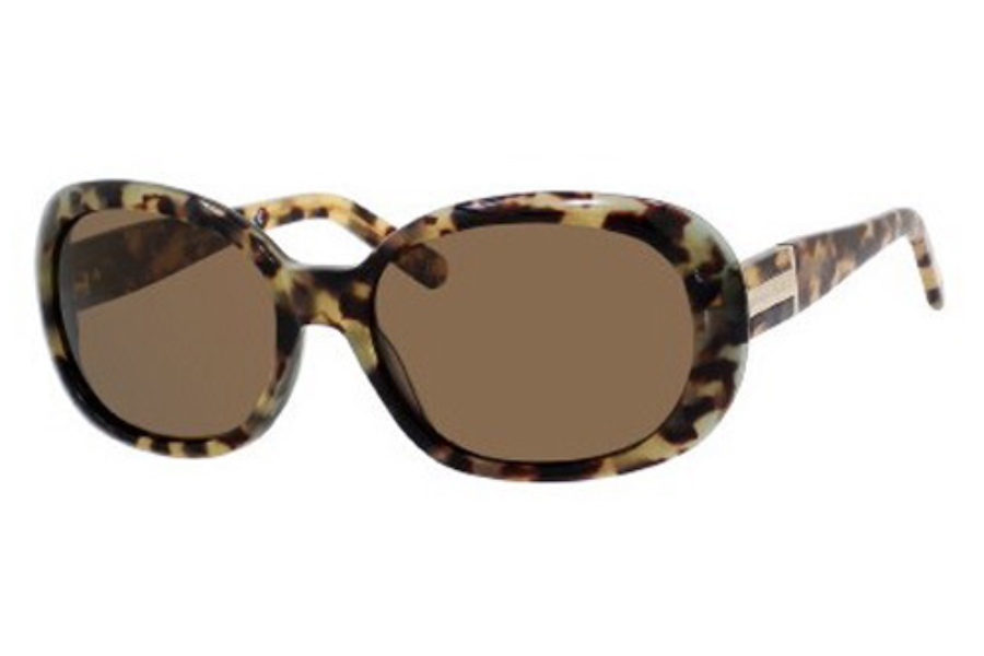 Banana Republic VERITY/P/S Sunglasses in JMVP Tortoise Crystal Green (VW dark brown polarized lens)