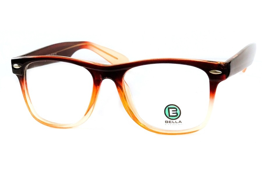 Bella 1208 Eyeglasses in Grad Brown