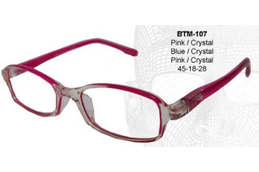 Bendatwist BTM 107 Eyeglasses in Pink/Crystal