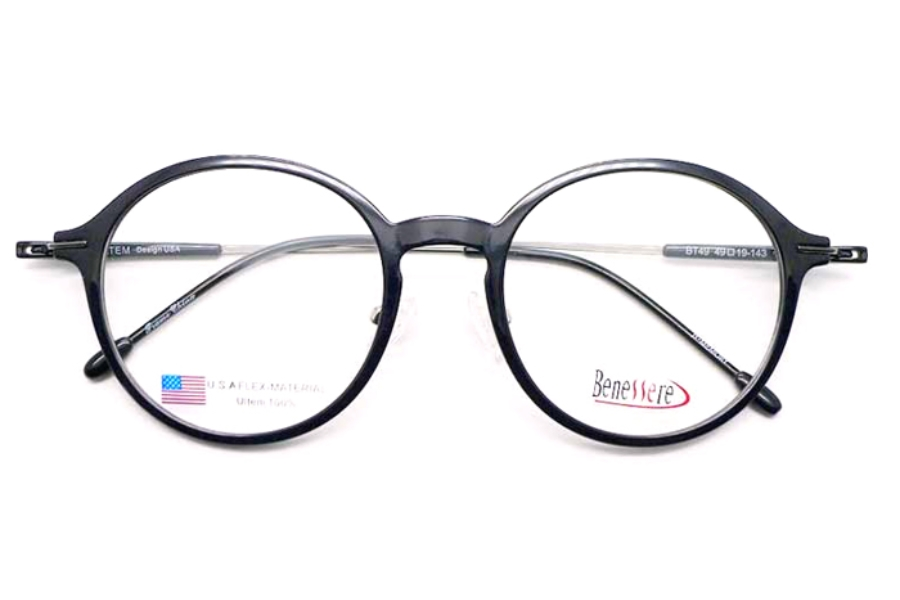 Beneserre BT-49 Eyeglasses in Black