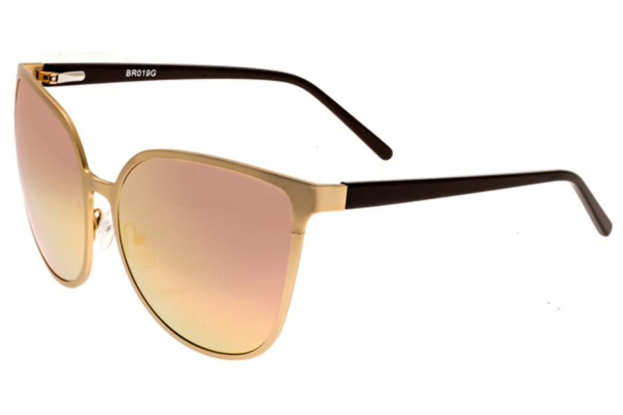 Bertha Ophelia Sunglasses in BR019RG Rose Gold/ Rose Gold