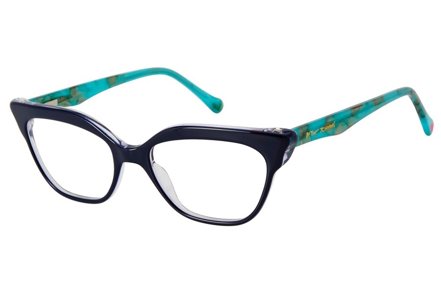 Betsey Johnson Eye Candy Eyeglasses in Navy
