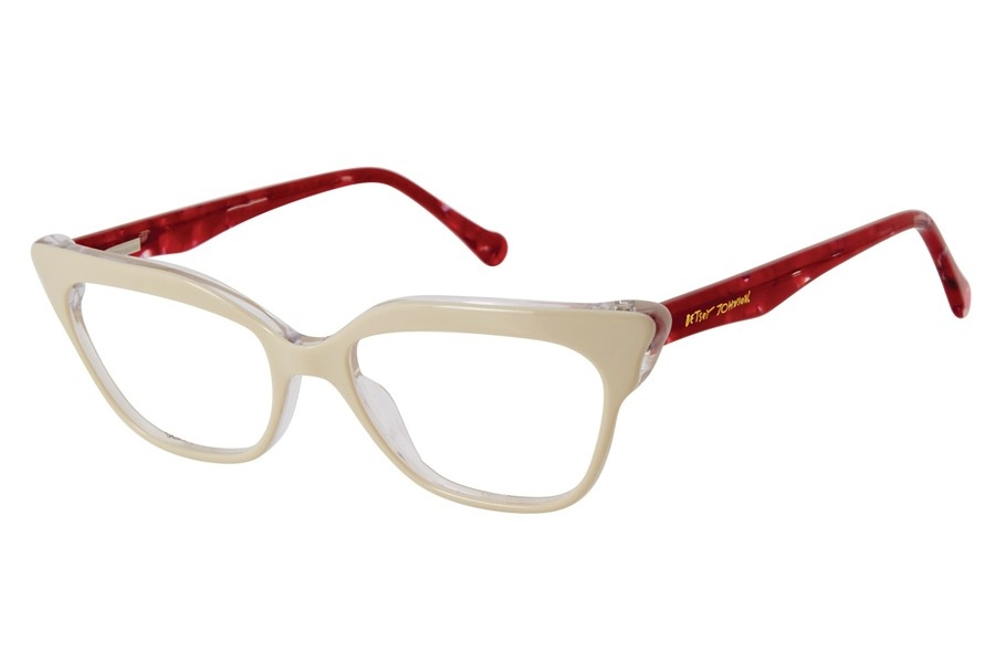 Betsey Johnson Eye Candy Eyeglasses in White