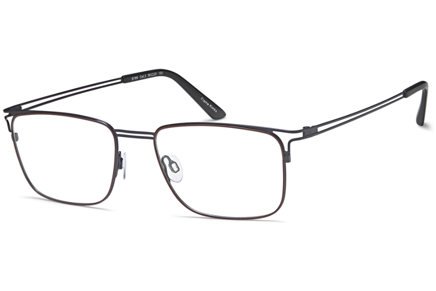 BIGGU B789 Eyeglasses in 03-Brown/Blue
