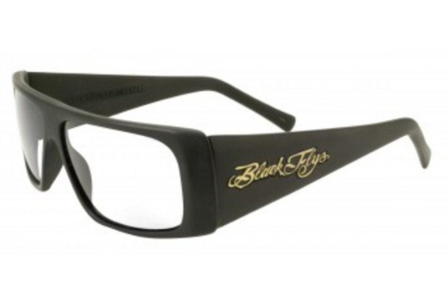 Black Flys FLY STRAIGHT READER Readers in Matte Black w/ Clear Lens