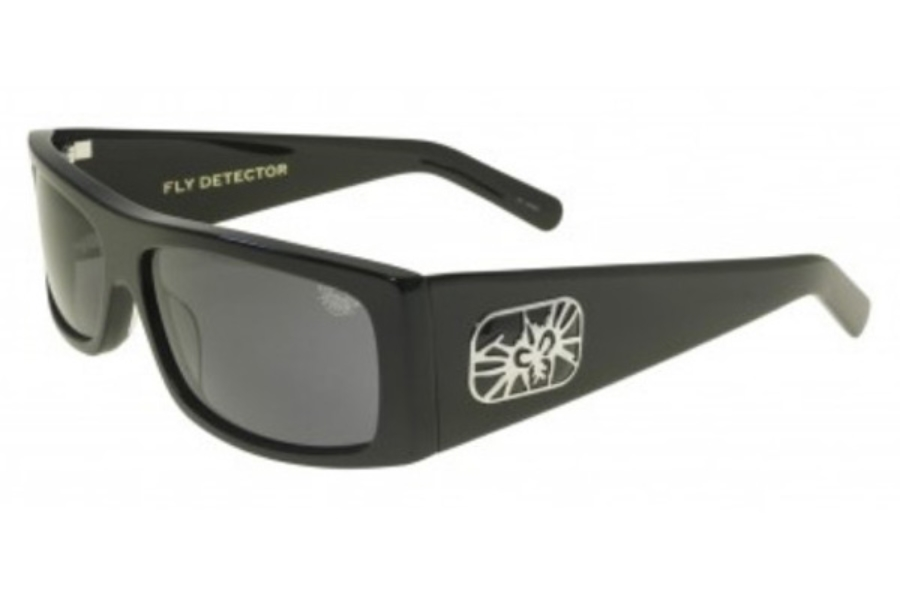Black Flys FLY DETECTOR Sunglasses in Shiny Black w/ Smoke Transition Lens (+$40.00)