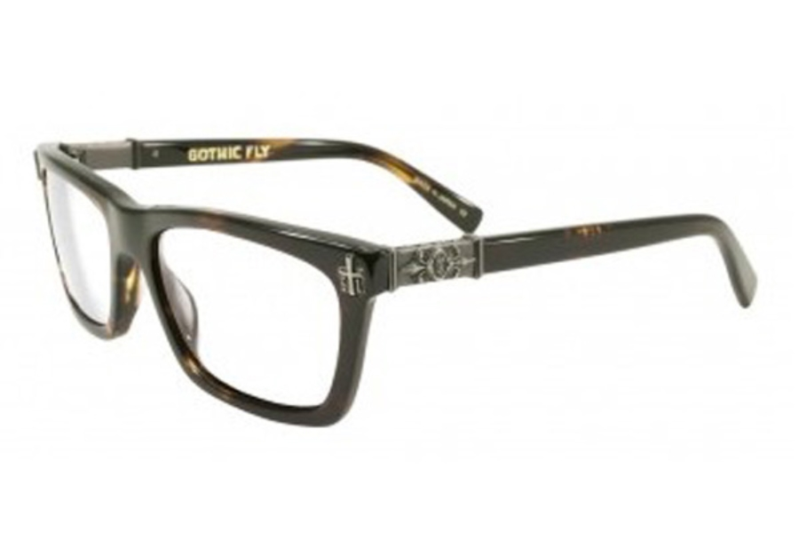 Black Flys GOTHIC FLY Eyeglasses in Tortoise w/ Clear Lens