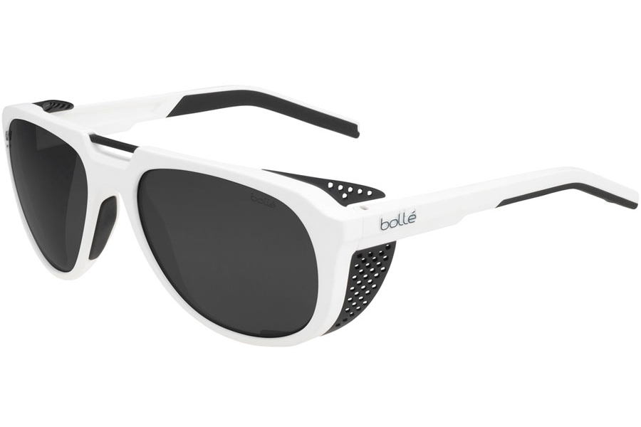 Bolle Cobalt Sunglasses in 12528 Matte White X Black W/Polarized Tns