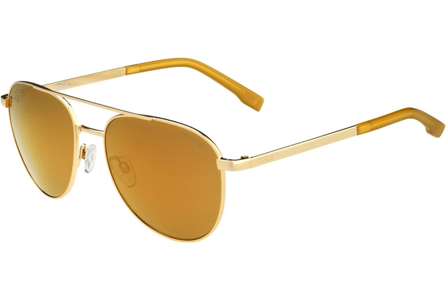 Bolle Evel Sunglasses in 12541 Shiny Gold Polarized W/Brown Gold